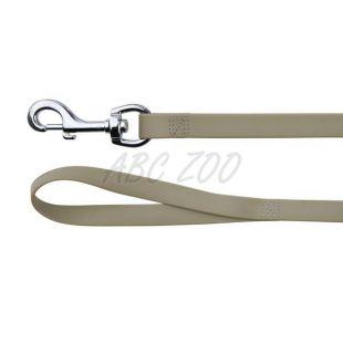 Póráz kutyáknak PVC-ből - szürke 1 m / 17 mm
