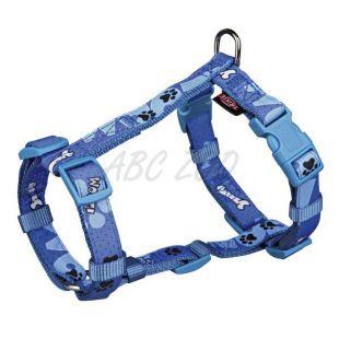 Kutyahám, kék színben, mintával M - L, 50 - 75 cm