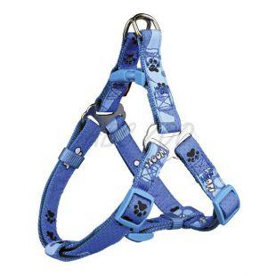 Kutyahám, kék színben, motívummal - M, 50 - 65 cm