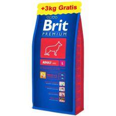 Brit Premium Adult Large 15kg + 3kg INGYEN