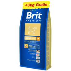 Brit Premium Adult Medium 15kg + 3kg INGYEN