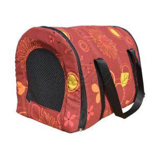 Puha szállító táska bordó színű, mintás - 40 x 30 x 30 cm