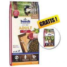 Bosch ADULT Lamb & Rice 15 kg + 3 kg GRÁTISZ