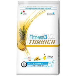 Trainer Fitnes3 Adult MEDIUM & MAXI - hal és kukorica 12,5kg
