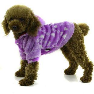 Kutyakabátka kapucnival- lila, XL