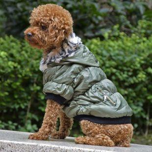 Kutyabunda fekete szegéllyel - zöld, L