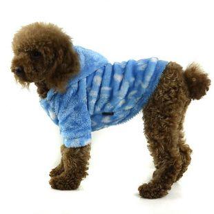 Kutyakabátka kapucnival- kék, XXL