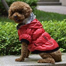 Kutyabunda fekete szegéllyel - piros, XL