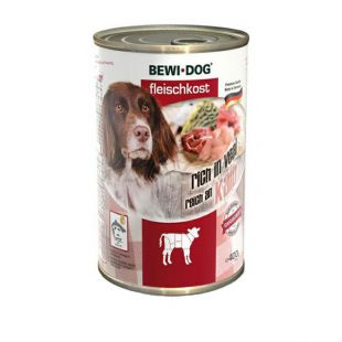 New BEWI DOG konzerv – Borjúhúsos, 400g