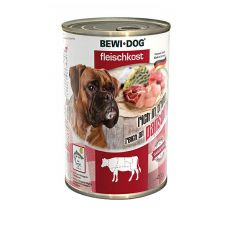 New BEWI DOG konzerv – Marhaaprólék, 400g
