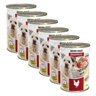 New BEWI DOG konzerv – Baromfi - 6 x 400g, 5+1 GRATIS