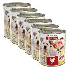 New BEWI DOG konzerv – Baromfi - 6 x 800g