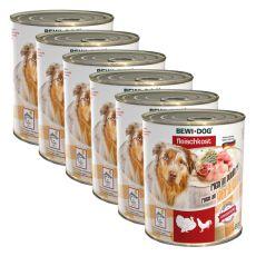 New BEWI DOG konzerv – Baromfi - 6 x 800g, 5+1 GRATIS