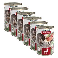 New BEWI DOG konzerv – Wild - 6 x 400g, 5+1 GRATIS