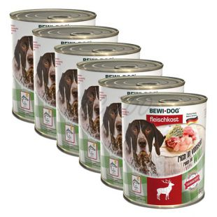 New BEWI DOG konzerv – Wild - 6 x 800g, 5+1 GRATIS