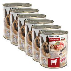 New BEWI DOG konzerv– Bárány - 6 x 800g, 5+1 GRATIS