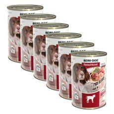 New BEWI DOG konzerv – Borjúhúsos- 6 x 400g, 5+1 GRATIS