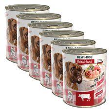 New BEWI DOG konzerv – Marhaaprólék - 6 x 800g, 5+1 GRATIS