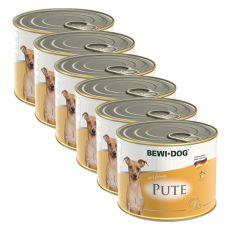 Bewi dog Pástétom – Pulyka - 6 x 200g, 5+1 GRATIS