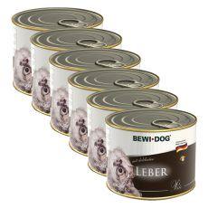 Bewi dog Pástétom - Májas - 6 x 200g, 5+1 GRÁTISZ