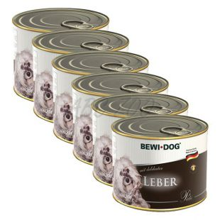 Bewi dog Pástétom - Májas - 6 x 200g, 5+1 AJÁNDÉK