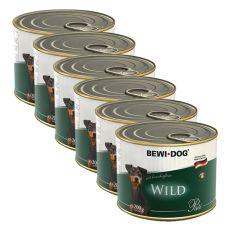 Bewi dog Pástétom – Wild - 6 x 200g, 5+1 GRATIS