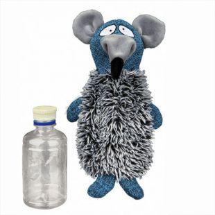 Játék patkány műanyag flakonnal - plüss, 21 cm