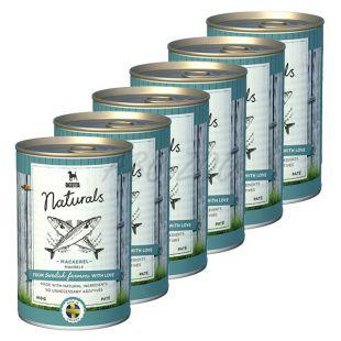 Bozita Naturals Mackerel - konzerv, 6 x 410g