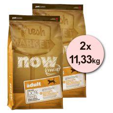 Petcurean NOW FRESH Grain Free ADULT - 2 x 11,33kg