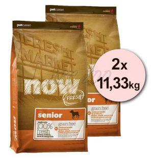 Petcurean NOW FRESH Grain Free SENIOR - 2 x 11,33kg