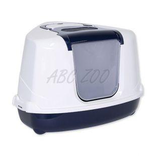 Sarok WC macskáknak MC JUMBO, kék - 59x45x45cm