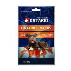 Fogtisztító rágópálcika ONTARIO Snack Chicken dental stick 70g