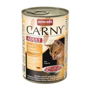 CARNY ADULT eledel marha- és csirkehúsból + kacsaszív - 400 g