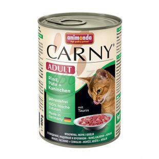 CARNY ADULT eledel marhahússal, pulykával és nyúlhússal- 400 g