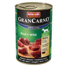 GranCarno Original Adult konzerv marha hús és szarvashús - 400g