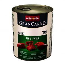 GranCarno Original Adult konzerv marhahús és vadhús - 800g