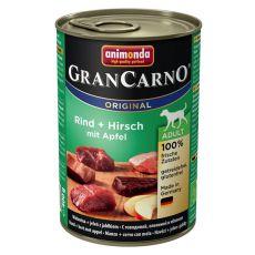GranCarno Fleisch Adult konzerv szarvashús + alma - 400 g