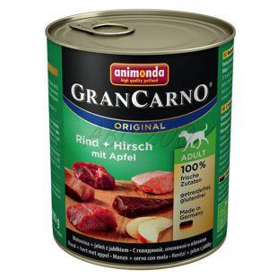 GranCarno Fleisch Adult konzerv szarvashús + alma - 800 g