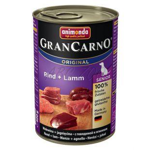 GranCarno Original Senior konzerv marha hús és bárány - 400g