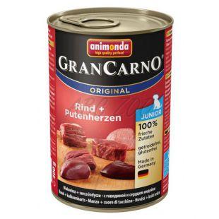 Gran Carno Fleisch Junior - 400 g, marhahúsos pulykaszív kutyakonzerv