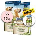 Happy Dog NaturCroq LAMM a REIS 2 x 15 kg + 6kg INGYEN
