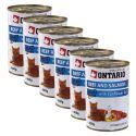 ONTARIO Konzerv macskáknak - marha, lazac és olaj - 6 x 400g