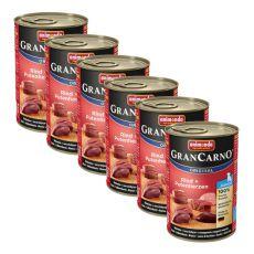 Gran Carno Fleisch Junior - 6 x 400 g, marhahúsos pulykaszív kutyakonzerv