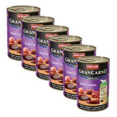Gran Carno Fleisch Adult, marhahús és bárányhús - 6 x 400 g
