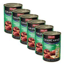GranCarno Fleisch Adult konzerv szarvashús + alma - 6 x 400 g