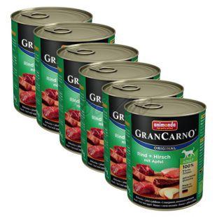GranCarno Fleisch Adult konzerv szarvashús + alma - 6 x 800 g