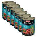 GranCarno Original Adult konzerv marha és lazac + spenót - 6 x 800g
