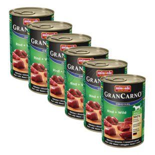 GranCarno Original Adult konzerv marha hús és szarvashús - 6 x 400g