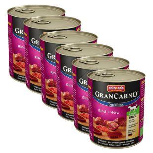 GranCarno Original Adult konzermarhahús és szív - 6 x 800 g