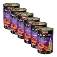 GranCarno Original Senior konzerv marhahús és bárány - 6 x 400g